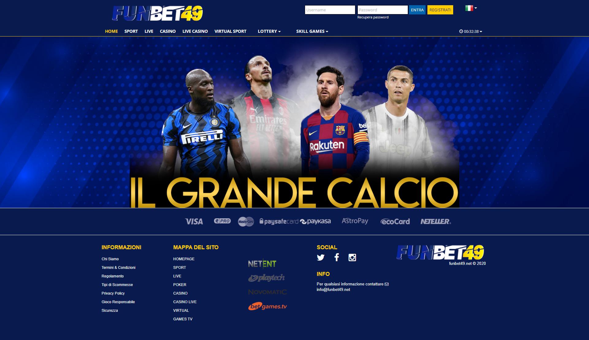 realizzazione sito web di betting online